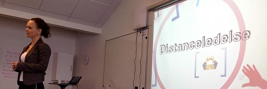 Rikke Lindekilde discussing Distance Leadership