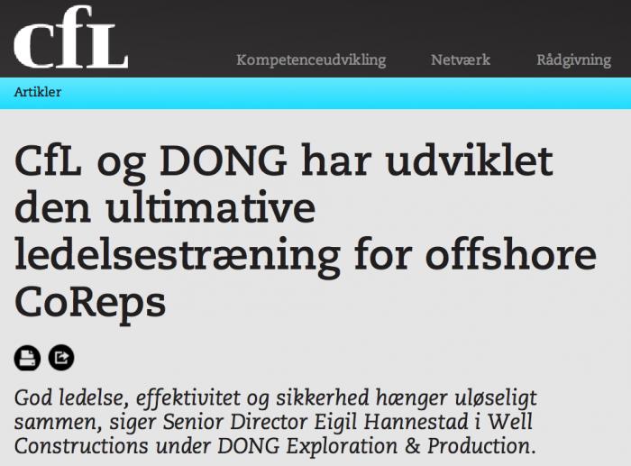 Den ultimative ledelsestræning for offshore CoReps