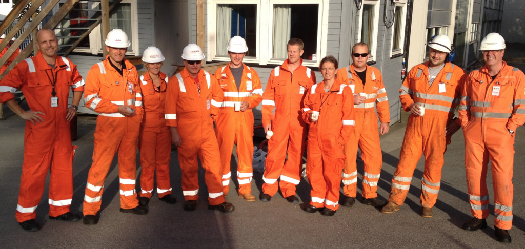 Right before heading out in to the full scale simulation at Ullriggen, Stavanger
